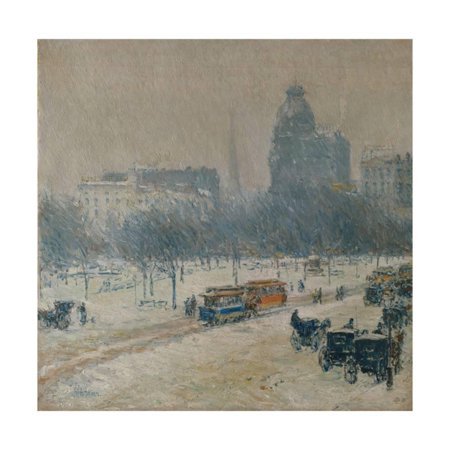 Winter in Union Square, 1889-90 Print Wall Art By Childe Hassam