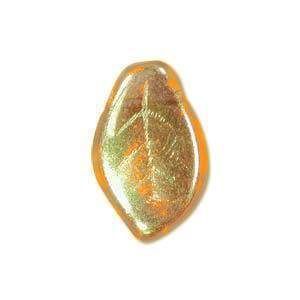 Czech Glass 7x12mm Leaf Bead, Amber AB (50) Ab Leaf Czech Glass Beads