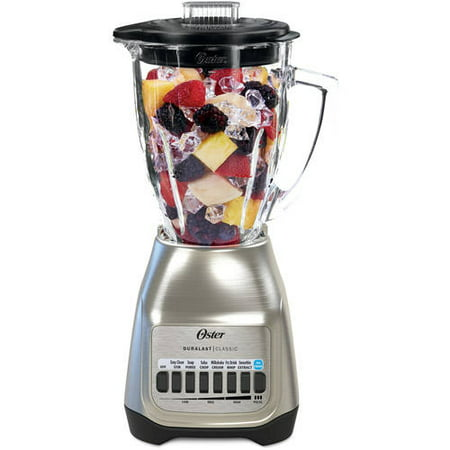 Oster Classic Series Blender Plus Food Chopper Nickel Plated with Glass