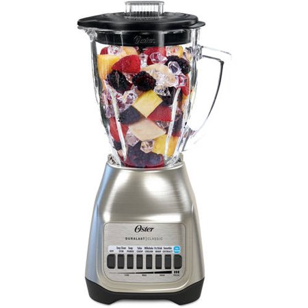 Oster Classic Series Blender Plus Food Chopper Nickel Plated with Glass Jar, 1 Each