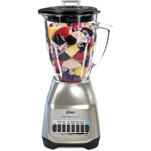 Oster Classic Series Blender PLUS Food Chopper, Nickel Plated with Glass Jar (BLSTSG-CFP-000)