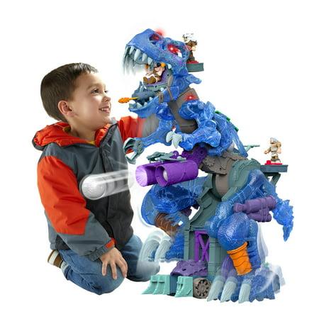 Imaginext Ultra T-Rex Ice Dino with 3 Cavemen Figures