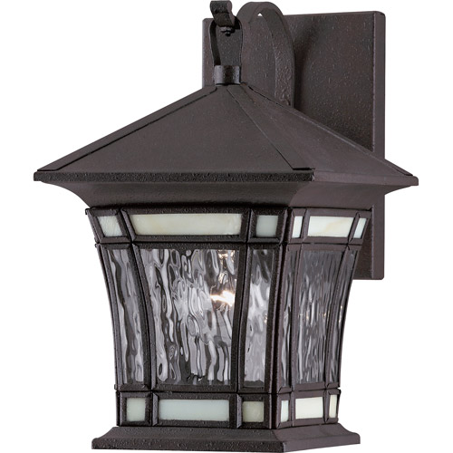 Westinghouse Lighting 6486400 Textured Rust Patina One-Light Exterior Wall Lante