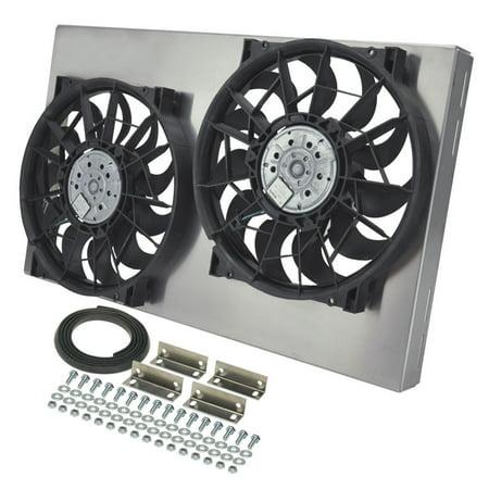 Derale Dual 13 4000 Cfm Ho Rad Electric Cooling Fan P N 33600
