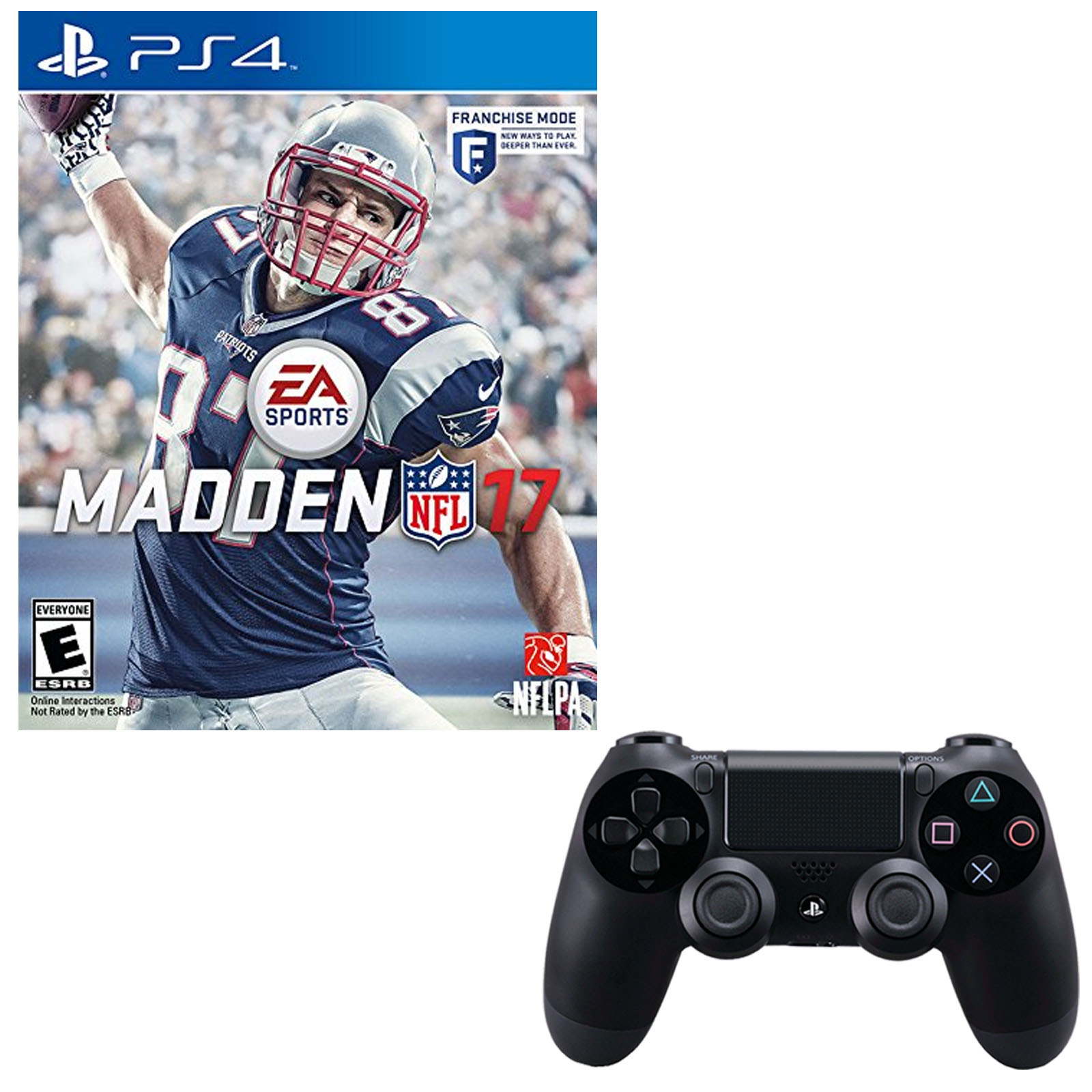 Playstation 4 Dualshock 4 Wireless Controller With Madden 17
