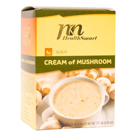 HealthSmart - High Protein Diet Soup - Cream of Mushroom - 15g Protein - Low Calorie - Low Carb - Sugar Free - Low Fat - Gluten Free -