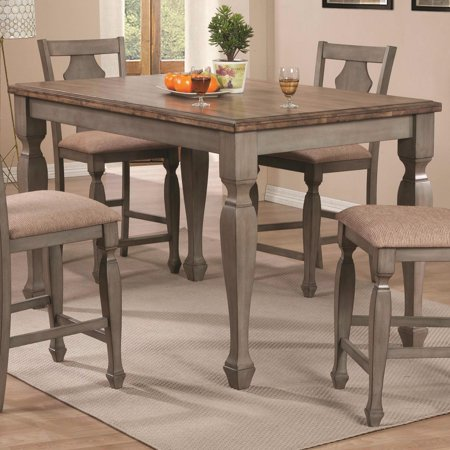 Riverbend TwoTone Counter Height Table In Wheat Antique - Counter height table for two