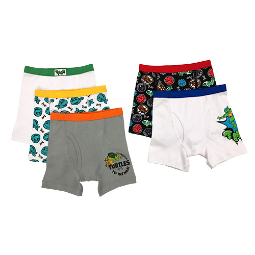 Teenage Mutant Ninja Turtles Toddler Boys Boxer Briefs Underwear, 5 Pack
