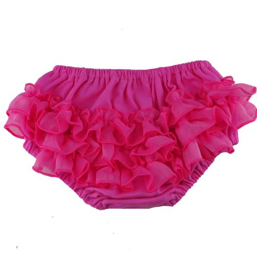 Reflectionz Baby Girls Hot Pink Ruffle Cotton Diaper Cover Bloomers 3M