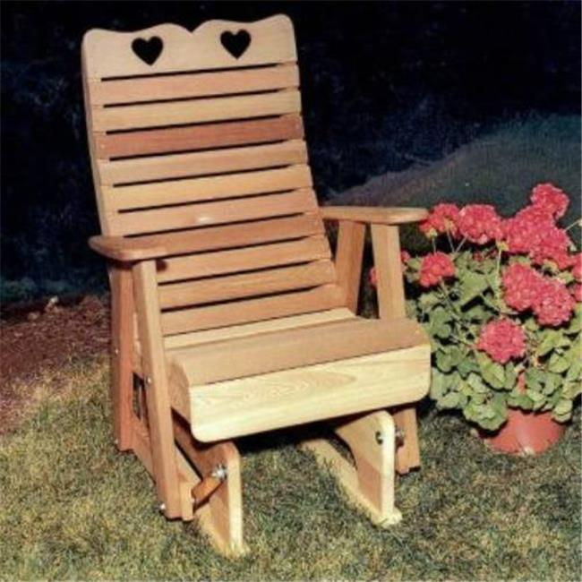 Creekvine Designs WF1235CVD Cedar Royal Country Hearts Glider Chair