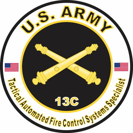 - 3.8 Inch U.S. Army MOS 13C Tactical Automated Fire Control Systems Specialist