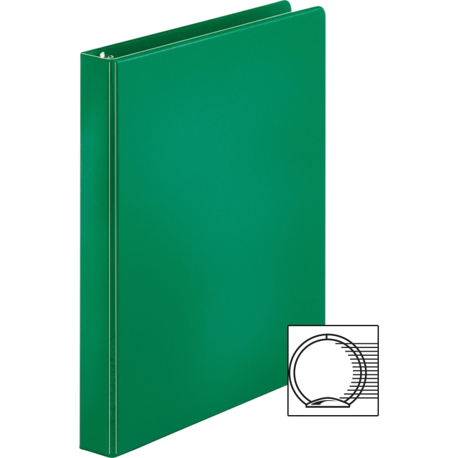 """Business Source Basic Round-ring Binder 1"""" Binder Capacity Letter 8 1 2"""" x 11"""" SHeet Size 3 x... by Business Source"""