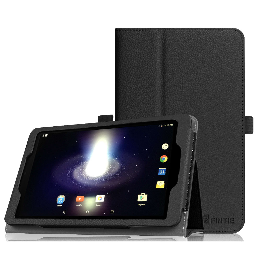 Fintie Sprint Slate 8 Tablet (AQT80) Case - [Slim Fit] Premium PU Leather Folio Cover with Stylus Holder, Black
