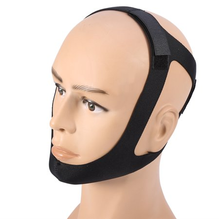 More fitting and Comfortable Stop Snoring Chin Strap Anti Snore Belt Apnea  Jaw Support Solution Sleep Black