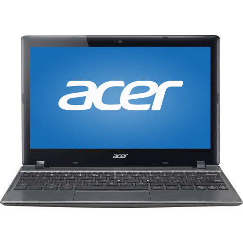 "Refurbished Acer C720-2103 11.6"" Chromebook, Chrome, Intel Celeron 2955U Dual-Core Processor, 2GB RAM, 16GB Solid State Drive"