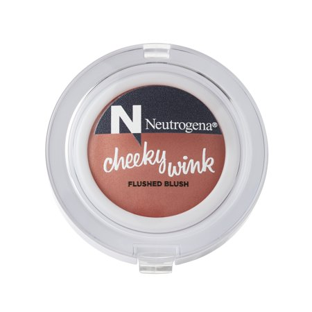 Neutrogena Cheeky Wink Flushed Blush for a Sheer Natural Flush of Color, Shade in First Crush, 0.15 oz