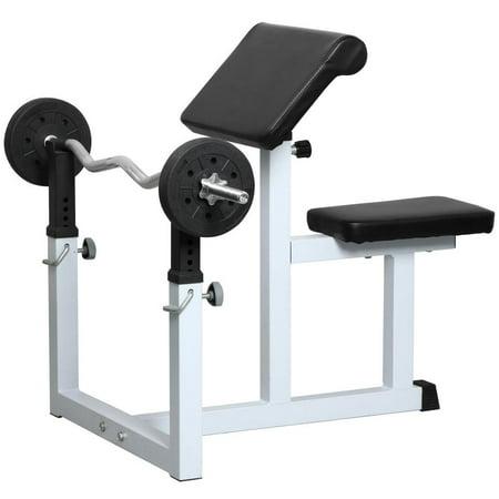 Yaheetech Commercial Preacher Arm Curl Weight Bench