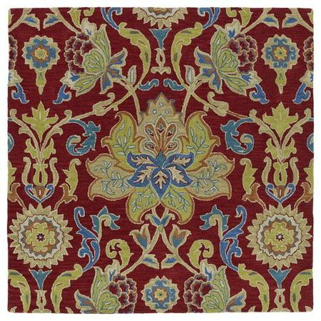 Astoria Grand Barkell Hand Tufted Wool Redgreen Area Rug Walmartcom