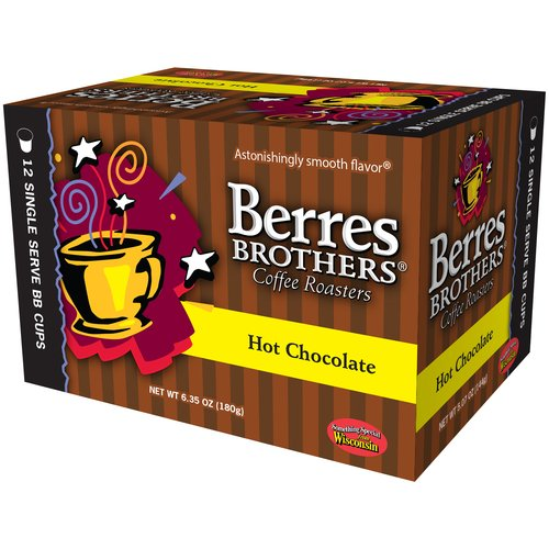 Berres Brothers Coffee Roasters Hot Chocolate Single Serve Cups, 12 count, 6.35 oz