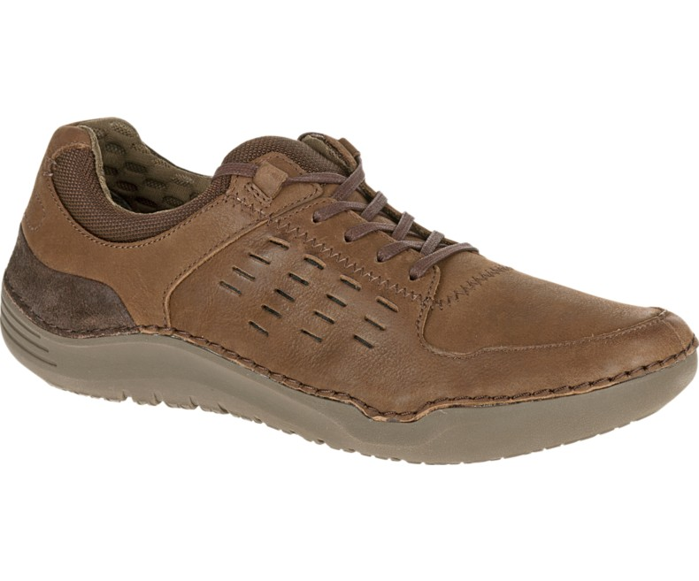 Hush Puppies HINTON METHOD Mens Brown Leather Oxfords Comfort Casual Shoes by Hush Puppies