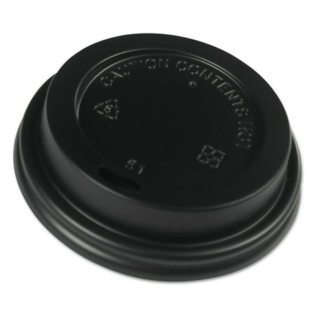 Cup Lids (Boardwalk Hot Cup Lids, Fits 8 oz Hot Cups, Black, 1000/Carton)