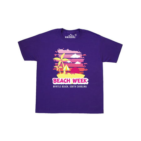 Beach Week Myrtle Beach South Carolina with Palm Trees Youth T-Shirt