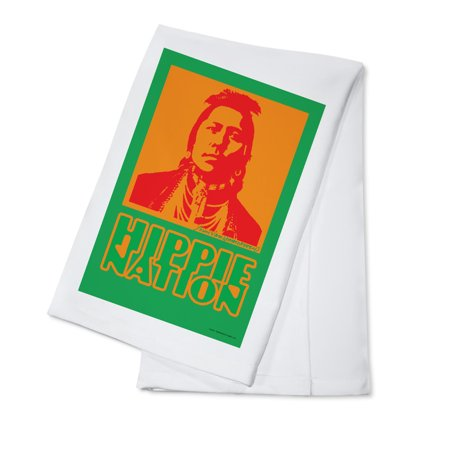 Hippie Nation - John Van Hamersveld Poster Artwork (100% Cotton Kitchen Towel)
