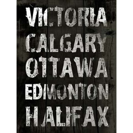 Canada Grunge Type Mate Poster Print by Jace Grey