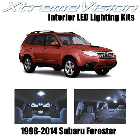 XtremeVision LED for Subaru Forester 1998-2014 (6 Pieces) Cool White Premium Interior LED Kit Package + Installation Tool Subaru Forester Interior