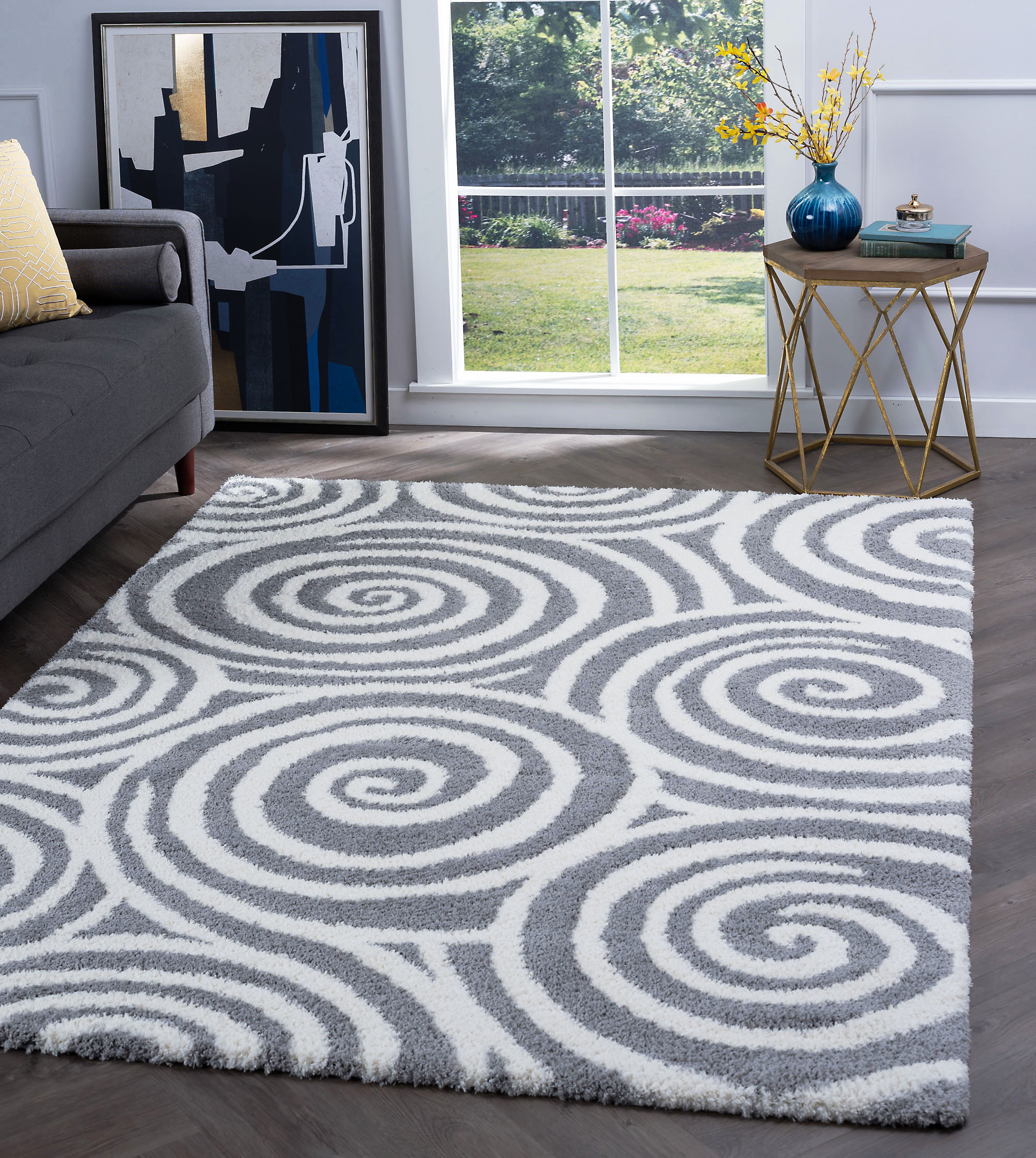Bliss Rugs Rexford Contemporary Shag Rug