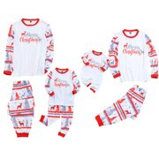 Sunisery Christmas Family Matching Pyjamas PJS Set Xmas Stripe Sleepwear Nightwear Gifts