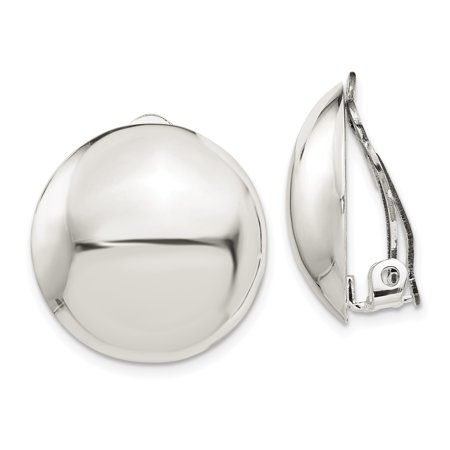 925 Sterling Silver Non Pierced Clip On Button Earrings Ball Gifts For Women For Her