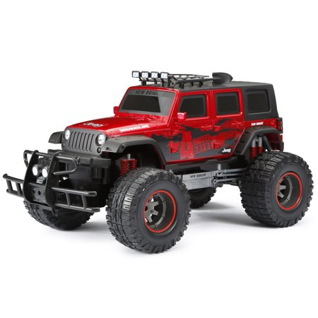 new bright rc 1 12 scale 4x4 radio control 4 door jeep wrangler red. Black Bedroom Furniture Sets. Home Design Ideas