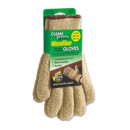 Master Caster 18040 Clean Green Microfiber Cleaning And Dusting Gloves, Pair
