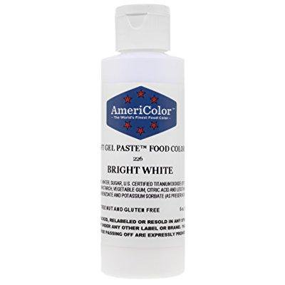 americolor soft gel paste food color, 6-ounce, bright white ...