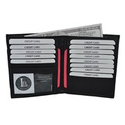 Men's Bifold Hipster Wallet with 13 Credit Card slots by Leatherboss