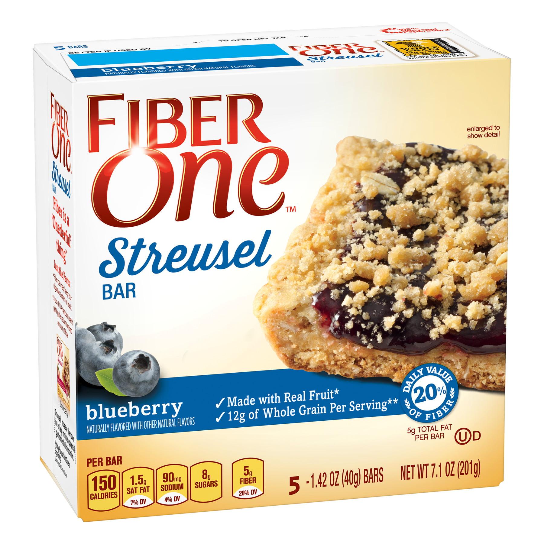 Fiber One Blueberry Streusel Bar, 7.1 oz Box