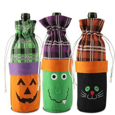 Halloween Decorations Using Wine Bottles (WALFRONT Creative Halloween Wine Bottle Cover Kitchen Party Decoration, Halloween Wine Bottle Cover for Party Decoration ,Wine Bottle)
