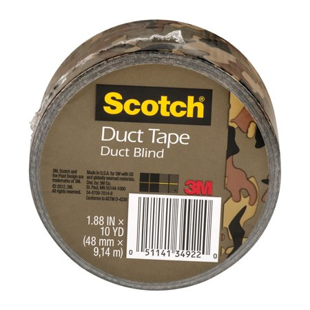 Scotch Duct Tape Duct Blind 1.88-Inch by 10-Yard