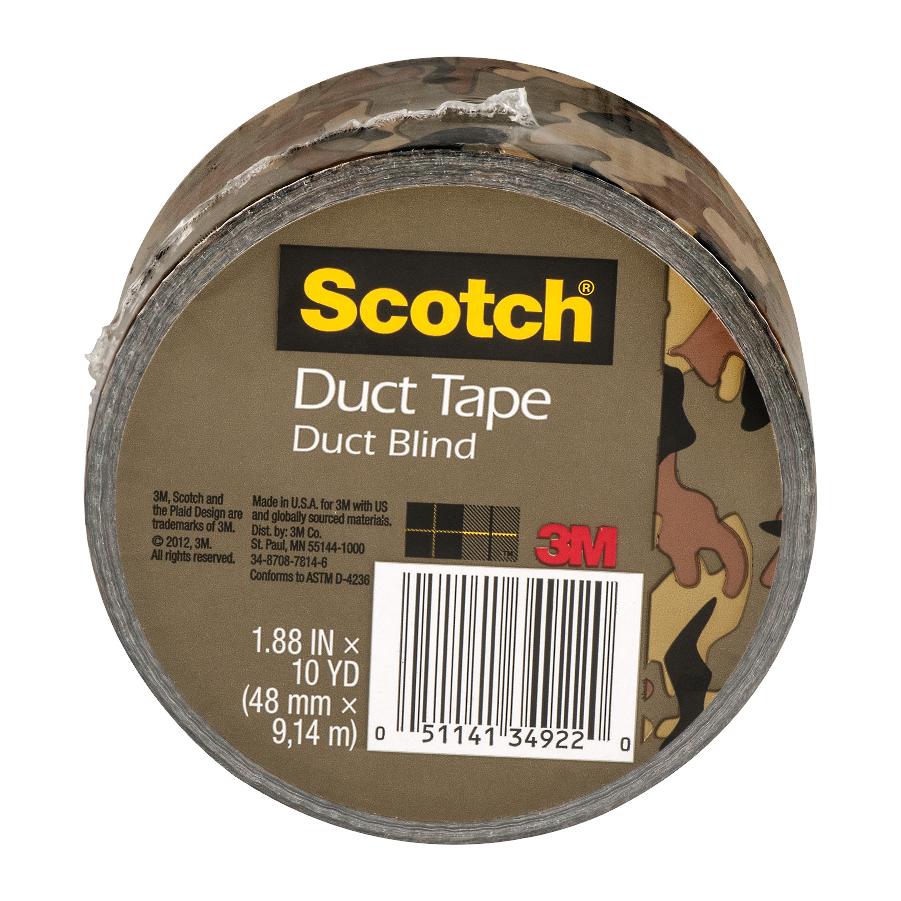 Scotch Duct Tape Duct Blind, 10.0 YARDS