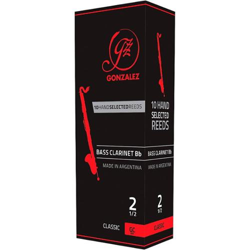 Gonzalez Classic Bass Clarinet Reeds Box of 5 Strength 2.5