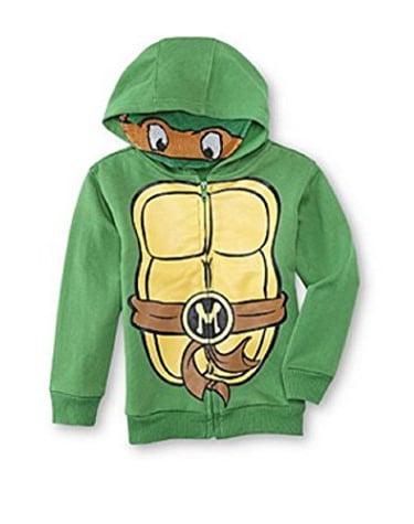 Teenage Mutant Ninja Turtles Size Medium 8-10 Michelangelo Green Mask Hoodie