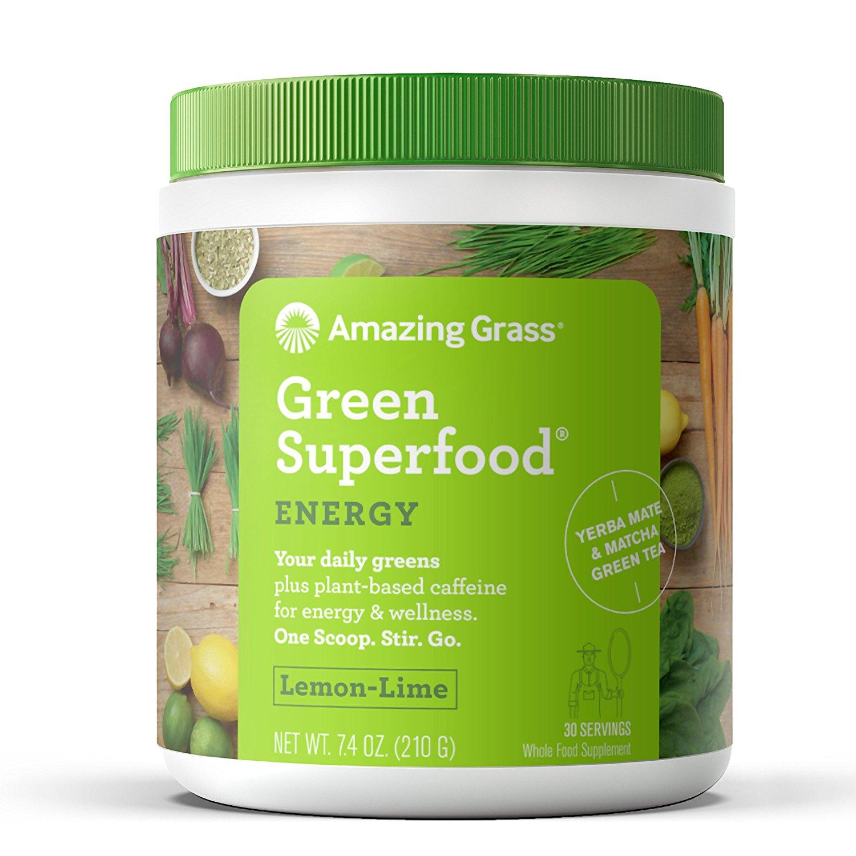 Amazing Grass Energy Green Superfood Powder, Lemon Lime, 30 Servings