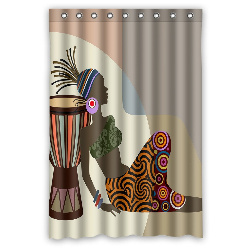 GCKG African Woman Waterproof Polyester Shower Curtain Bathroom Decor 48x72 inches - image 4 de 4