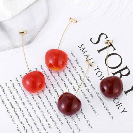 Aofa Women Sweet Cherry Shape Dangle Jacket Earrings Party Jewelry Birthday Gift - image 5 of 7
