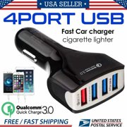 12-24V 4-Port USB 4.2A Fast Car Charging Adapter Quick Charger for Cell Phone
