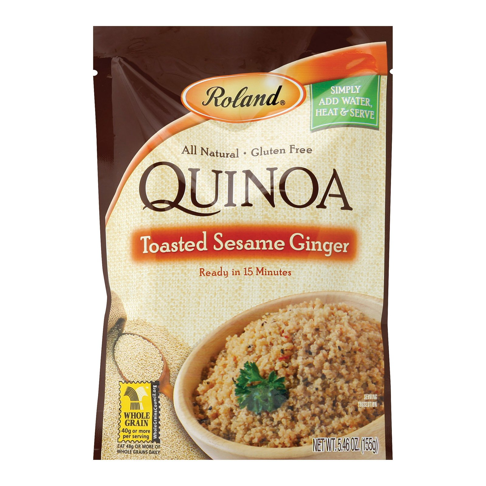 (2 Pack) Roland Toasted Sesame Ginger Quinoa, 5.46 oz