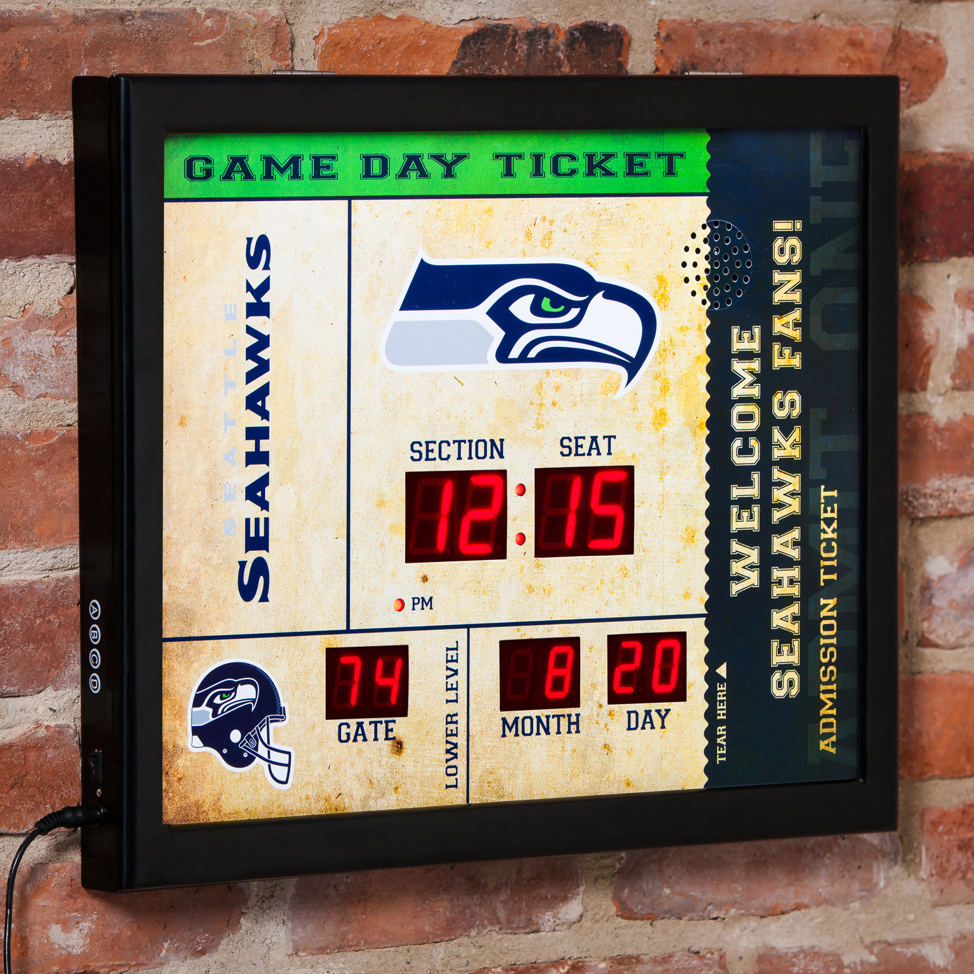 Evergreen Enterprises Bluetooth NFL Scoreboard Wall Clock