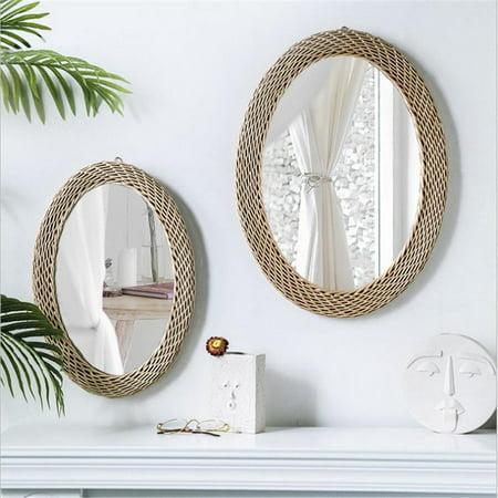Wall Mirror Round Decorative Wicker, Round Decorative Mirror Canada