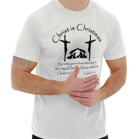 Christ Is Christmas Christian Jesus Holiday T Shirt Tee (Why Is Father Christmas Red And White)